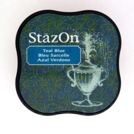 Stazon inktkussen Midi Teal Blue