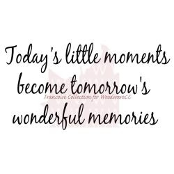Little Moments - Woodware tekststempel