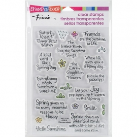 "Stampendous Perfectly Clear Stamps 4""X6"" Spring Sentiments"