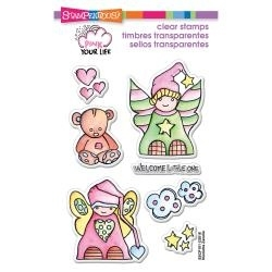 Stampendous Little Angels pink your life