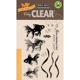 "Hero Arts Clear Stamps 4""X6"" Color Layering Goldfish"