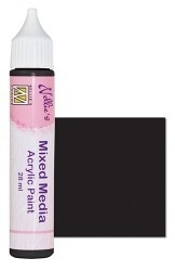Nellies Choice Mixed media verf satijn zwart 28ml MMAP014