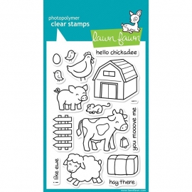 "Lawn Fawn Clear Stamps 4""X6"" Critters On The Farm"