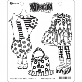 "Dyan Reaveley's Dylusions Cling Stamp Collections 8.5""X7"" These boots are made"