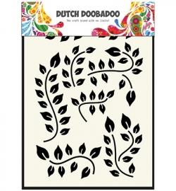 Dutch Mask Art Leaves Branch