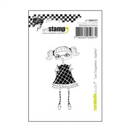 Carabelle cling stamp mini les toupettes Sophie