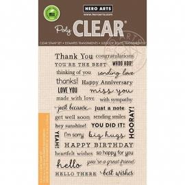 "Hero Arts Clear Stamps 4""X6"" Many Everyday Messages"