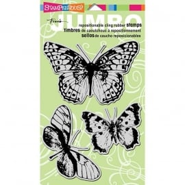 "Stampendous Fran's Cling Stamps 5""X7"" Butterfly Trio"