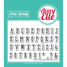"Avery Elle Clear Stamp Set 2""X3"" Elle's Alphabet"