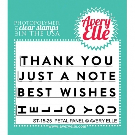 "Avery Elle Clear Stamp Set 2""X3"" Petal Panel"