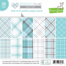 Lawn Fawn Perfectly plaid winter petite paper pack 6x6