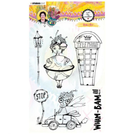 STAMPBM66 - BM Clear Stamp Roadtrip Marlene's World nr.66
