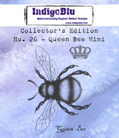 IndigoBlu Collector's No. 26 Queen Bee Mini rubber stempel