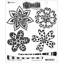 "Dyan Reaveley's Dylusions Cling Stamp Collections 8.5""X7"" Doodle Blooms"