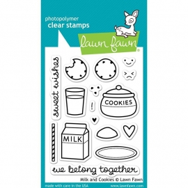 "Lawn Fawn Clear Stamps 3""X4"" Milk & Cookies"