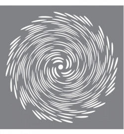 Andy Skinner Stencil Whirlpool 6x6 inch