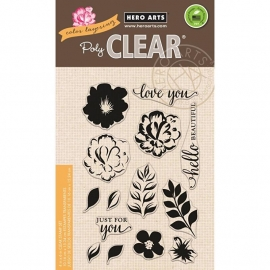 "Hero Arts Clear Stamps 4""X6"" Color Layering For You Flowers"