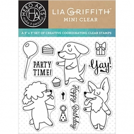 "Hero Arts Clear Stamps By Lia 3""X3"" Party Time"