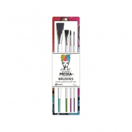 Dina Wakley Media Stiff Bristle Brushes 4/Pkg