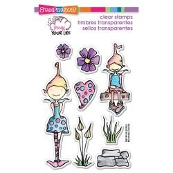 Stampendous Whisper friends pink your life