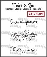 Crealies Clearstamp Tekst&Zo Groetjes 4