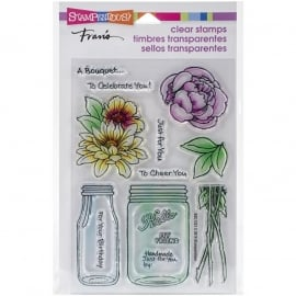 "Stampendous Perfectly Clear Stamps 4""X6"" Bouquet For You"
