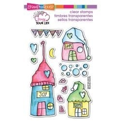 Stampendous Whisper Houses Pink your Life