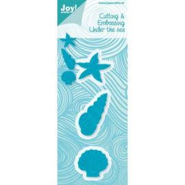 Onder de zee snijstencil Joy Crafts