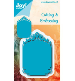 Joy Crafts - Tag blauwe mal