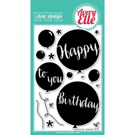 "Avery Elle Clear Stamp Set 4""x6""Balloons"