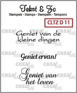 Crealies Clearstamp Tekst&Zo Divers 11