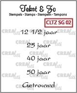 Crealies Clearstamp Tekst&Zo Speciale gelegenheden 2