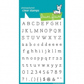 "Lawn Fawn Clear Stamps 4""X6"" Smitty ABCs"