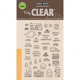 "Hero Arts Clear Stamps 4""X6"" Town Essentials"