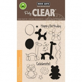 "Hero Arts Clear Stamps 4""X6"" Balloon Animal Birthday"