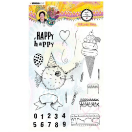 STAMPBM67 - BM Clear Stamp Birthday bash Marlene's World nr.67