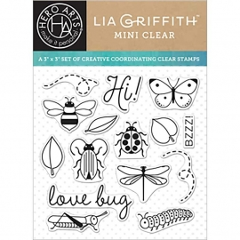 "Hero Arts Clear Stamps By Lia 3""X3"" Love Bugs"