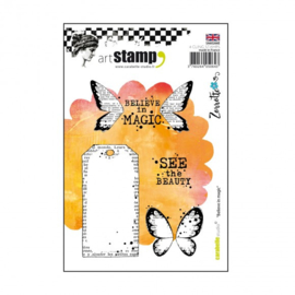 Carabelle stamp A6 believe in magic