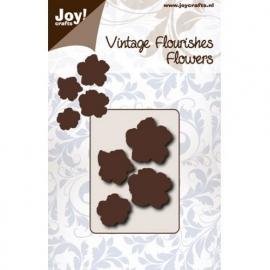 Cutting stencil - Vintage Flourishes Bloem met 5 bladeren