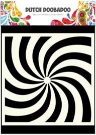 Dutch Doobadoo Dutch Mask Art stencil spiral 15x15cm