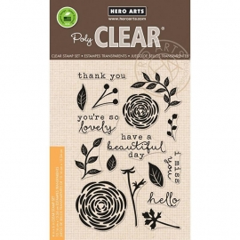 "Hero Arts Clear Stamps 4""X6"" So Lovely"