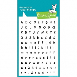 """Lawn Fawn Clear Stamps 4""""X6"""" Harold's ABCs"""