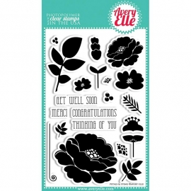 Avery Elle Clear Stamp Petals & Stems