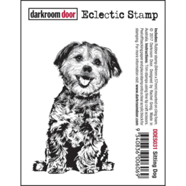 Sitting Dog - Drakroom Door