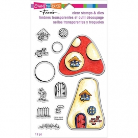 "Stampendous Fran's Clear Stamps & Dies 5""X7"" Mushroom Home"