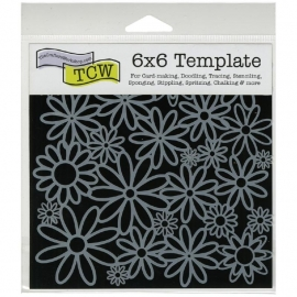 """Crafter's Workshop Template 6""""X6"""" Daisy Cluster"""