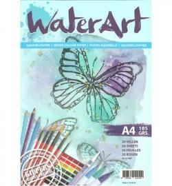 WaterArt aqaurelpapier Papier 20 sheets / A4/ 185 grs