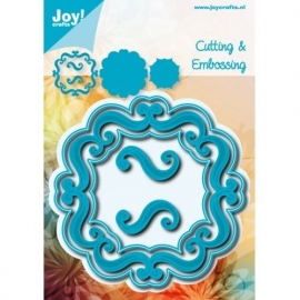 Cutting & Embossing stencil - Vierkant accolades 2