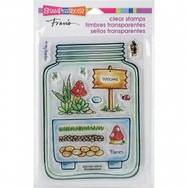 "Stampendous Perfectly Clear Stamps 4""X6"" Terrarium"