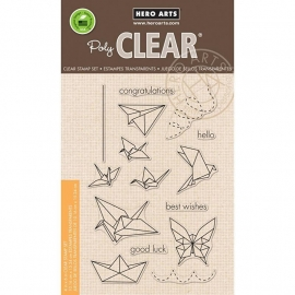 "Hero Arts Clear Stamps 4""X6"" Origami Animals"